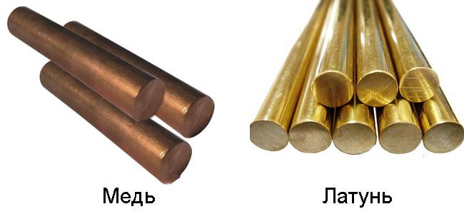 Как отличить медь от латуни