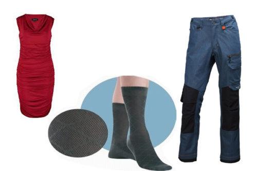 Применения полиамида для носков, платья